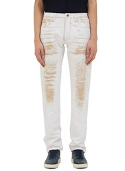 Calvin Klein Landon Worn Stitched Straight Leg Pants White