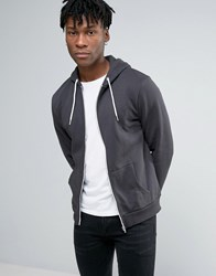 New Look Hoodie In Dark Grey Dark Grey