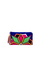 The Way U Neon Lights Blue Clutch Royal