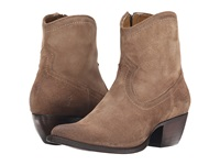Frye Sacha Short Ash Oiled Suede Cowboy Boots Tan