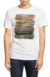 Dedicated 'Vinyl Retro' Organic Cotton Graphic T Shirt Off White