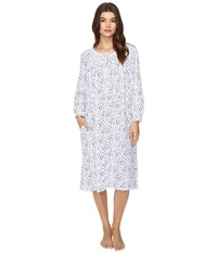 Eileen West Long Sleeve Waltz Nightgown Blue Ditsy Women's Pajama