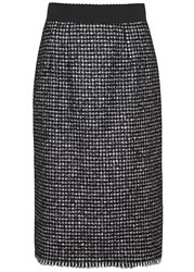 Dolce And Gabbana Houndstooth Tweed Pencil Skirt