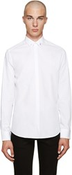 Fendi White Accent Collar Shirt