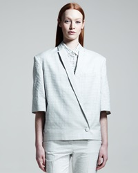 Stella Mccartney Half Sleeve Dot Jacquard Jacket Paper