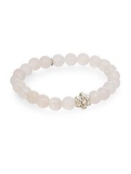 Anzie Boheme Rose Quartz And Sterling Silver Bracelet Pink