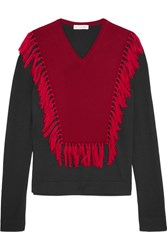 Altuzarra Ming Fringed Wool Sweater Black