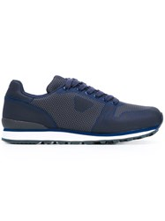 Armani Jeans Low Cut Sneakers Blue