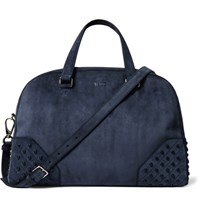 Tod's Studded Suede Holdall Navy