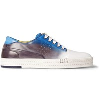 Berluti Playtime Degrade Leather Sneakers Blue
