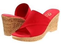 Onex Christina Red Elastic Women's Wedge Shoes