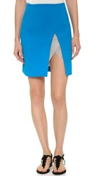 Christopher Esber Contoured Slit Miniskirt High Blue
