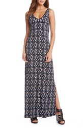 Women's Karen Kane 'Alana' Diamond Ikat Print Maxi Dress