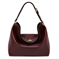 Mulberry Tessie Hobo Leather Bag Oxblood