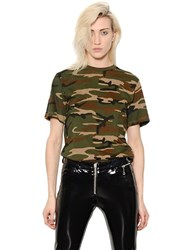 Alyx Camouflage Cotton Jersey T Shirt