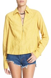 Women's Free People 'Ready Or Not' Blouse Sunflower Lemon Combo