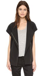 Vince Short Sleeve Jacket Black