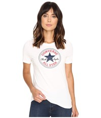 Converse Core Solid Short Sleeve Core Patch Crew Tee White Women's T Shirt