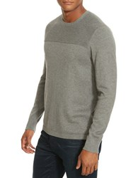 Kenneth Cole Textured Crewneck Sweater Flannel