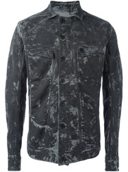 11 By Boris Bidjan Saberi Camo Effect Denim Jacket Grey