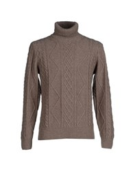 Altea Knitwear Turtlenecks Men Khaki