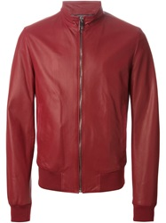 Dolce And Gabbana Perforated Jacket Red
