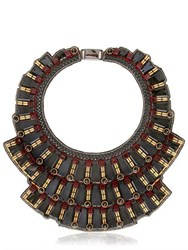 Ranjana Khan Black Mirror Necklace