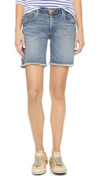 True Religion Emma Bermuda Shorts Gypset Blue