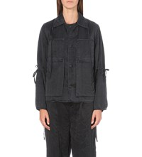 Craig Green Boxy Fit Silk Jacket Black