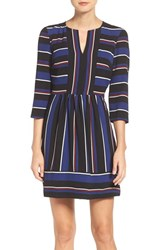 Charles Henry Women's Stripe Woven Fit And Flare Dress