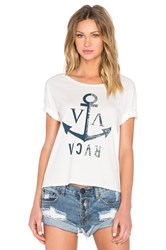 Rvca Anchor Away Graphic Tee White