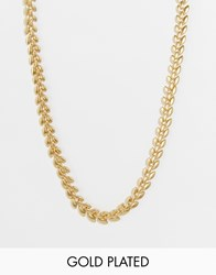 Pilgrim Gold Plated Vintage Style Necklace Gold Plated