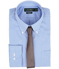 Lauren Ralph Lauren Classic Button Down With Pocket Dress Shirt Blue White Men's Long Sleeve Button Up