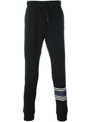 Dirk Bikkembergs Logo Patch Track Pants Black