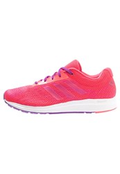 Adidas Performance Mana Bounce Cushioned Running Shoes Shock Red White Shock Purple
