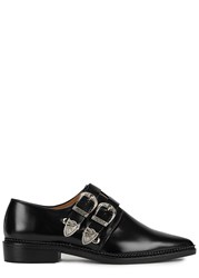 Toga Pulla Black Leather Monk Strap Shoes