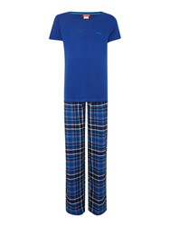 Bjorn Borg Poison Check Pant And Tee In A Box Navy