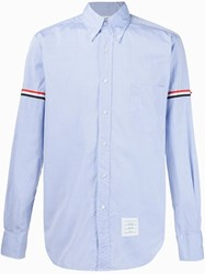 Thom Browne Striped Sleeve Shirt Blue