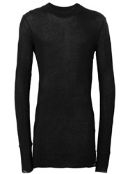 Barbara I Gongini Sheer Longsleeved T Shirt Black