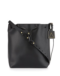 Kelsi Dagger Wythe Leather Bucket Bag Black