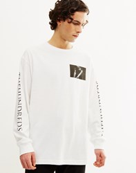 The Hundreds Neck Loose Long Sleeve T Shirt White