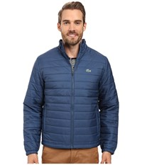 Lacoste Sport Ripstop Jacket Yachting Blue White Men's Coat