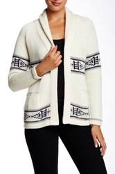 Twelfth St. By Cynthia Vincent Shawl Collar Sweater White