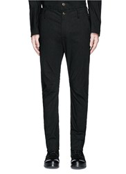 Uma Wang 'Felix' Slim Fit Stretch Linen Pants Black