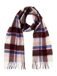Barbour Cashmere Blend Country Plaid Scarf Pink