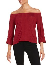 Sanctuary Off The Shoulder Peasant Top Bohemian Red