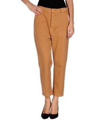 Authentic Original Vintage Style Casual Pants Ocher