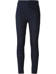 T By Alexander Wang Skinny Cigarette Trousers Blue