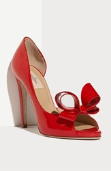 Women's Valentino Couture Bow D'orsay Pump Red Patent