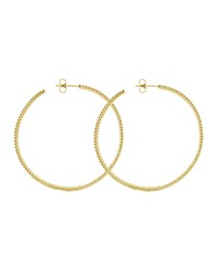 18K Gold Caviar Beaded Hoop Earrings 50Mm Lagos Green